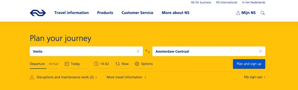 Pociągi w Holandii